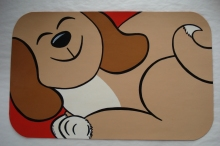 Handpainted Dog Mat