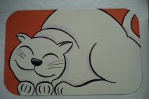 Handpainted Cat Mat
